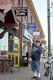 TIMES PHOTO: JONATHAN HOUSE - Chuck Wilson, owner of Beaverton Sub Station, was excited in June as construction work was beginning to widen sidewalks in front of his and other businesses along a two-block stretch of Broadway Street.