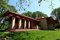 TIMES PHOTO: MILES VANCE - The Gordon House in Silverton is the only Frank Lloyd Wright house in Oregon and the only one open to the public in the Pacific Northwest.