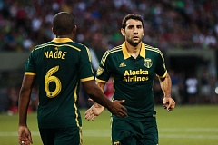 TRIBUNE PHOTO: DAVID BLAIR - Darlington Nagbe (left) and Diego Valeri have been two of the Portland Timbers' main guns against opposing defenses.