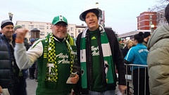JOSEPH GALLIVAN - DJ Heffernan and Tom Armstrong are in line for the North End before the Timbers-Dallas game.