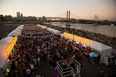 COURTESY: FEAST PORTLAND/JOHN VALLS  - Feast Portland's Night Market is a signature event each year. The dozens of big and small events during the four-day festival this year raised nearly $70,000 for two charities working to end food insecurity.