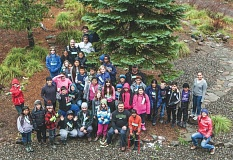 CONTRIBUTED PHOTO: MAZAMAS - These happy fifth-graders from Portland Public Schools were the first to try out the new Mazamas winter mountain science school last year.