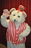 SUBMITTED PHOTO  - The Peppermint Bear stars in a new adventure at Lakewood Center for the Arts. Enjoy a light continental breakfast, music and a visit from a man in a red suit. The show is appropriate for ages 3-12.