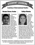 GRAPHIC BY WOODBURN INDEPENDENT - Hernan Chavez Avalos and Kathya Mendez are AIS' student leaders of the week.