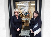 BARBARA SHERMAN - Hail Owens (left) and Elaine Kroft worked together for two years before deciding to open their own salon, and Do or Dye Beauty Bar is the result of their creative collaboration.
