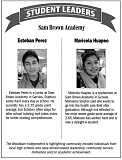 INDEPENDENT GRAPHIC - Student leaders of the week