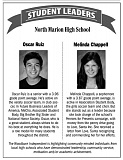 WI - Oscar Ruiz and Melinda Chappell are this week's student leaders from North Marion High School.