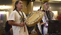 SUBMITTED PHOTO  - Fish Martinez, a member of the Confederated Tribes of Siletz, will perform and talk about Native American powwow drumming and hip hop at 7 p.m. Feb. 2 at the Lake Oswego Public Library, 706 Fourth St.