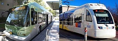 SUBMITTED PHOTOS - Will it be MAX or BRT? A decision on whether a light-rail or rapid-bus line will be built from Portland to Tualatin remains, after planners with the Southwest Corridor Plan cancelled its Feb. 29 meeting. No new date has been set, yet.