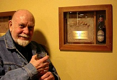 SUBMITTED PHOTO  - Oregon State Universitys Oregon Hops and Brewing Archives has acquired the papers of renowned beer journalist and historian Fred Eckhardt, pictured here at a celebration of his 82nd birthday.