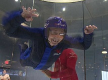SUBMITTED PHOTO  - An iFLY experience is just what Norma Heyser needed to pull herself out of the winter doldrums. Here, another senior enjoys flying.