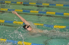 SETH GORDON - West Linn's Nathan Colman won the 100 backstroke during last week's dual meet with Newberg in a time of 1:04.25.
