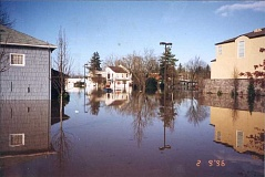 SUBMITTED PHOTO - Downtown Tualatin lies underwater in February 1996, after a devestating series of ice and rain caused serious flooding across the Portland area.