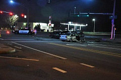COURTESY SALEM POLICE DEPARTMENT - Police are investigating a crash that involved a Woodburn woman Thursday night in Salem. She suffered minor injuries, but the other driver fled the scene on foot.