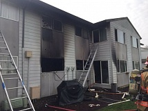 CLACKAMAS FIRE DISTRICT - No one was hurt in a fire at Lake Crest apartments on Feb. 6.