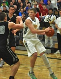 MATTHEW SHERMAN - Tate Hoffman was one of five West Linn players to score in double figures in the Lions' win over Oregon City on Saturday.