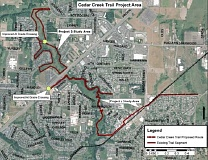 SUBMITTED PHOTO - The city is expected to begin construction on the Cedar Creek Trail in 2017.
