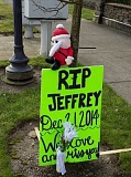 FILE PHOTO: RAY PITZ - A memorial was erected in honor of Jeff Olds after he was struck and killed by a motorist in December 2014.