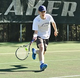 MATTHEW SHERMAN - Lake Oswego's Mark Yazhari won his match at No. 2 singles against West Linn last week.