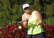 SUBMITTED PHOTO: DAN BROOD - Wilsonville No. 1 singles player Keely Petticord won her match against La Salle.