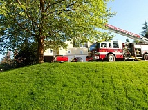 COURTESY OF TUALATIN VALLEY FIRE & RESCUE - Tualatin Valley Fire & Rescue crews responded to a basement fire in a home in the rural Tualatin area Tuesday.