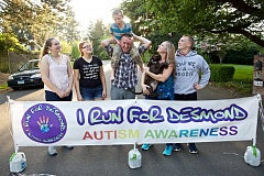 TIMES PHOTO: JAIME VALDEZ - Amy Zirkelbach has organized, I Run for Desmond 5k run, for the last three years that raises money for special ed program at Charles F Tigard Elementary School where Desmond is a third-grader.