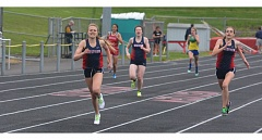 TIMES PHOTO: MATT SINGLEDECKER - Westview senior Rachel Gore has weathered four severe knee injuries during her athletic career including three torn anterior crucial ligaments. Gore is running for the Wildcat track team this season and hopes to run in a Metro League District championship.