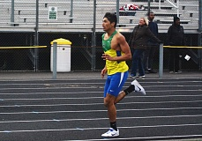 TIMES PHOTO: MATT SINGLEDECKER - Aloha senior Luis Torres won the 800 and 1,500 meter races against Westview on April 13 to help the Warriors beat the Wildcats at Westview High School.