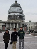 COURTESY PHOTOS - (L-R) Briana Larios, Edgar Sanchez-Fausto and Mitchell Faris, who volunteer as student representatives on different Forest Grove city commissions, took an expense-paid trip to Washington D. C. for the National League of Cities youth conference.