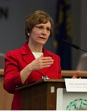 PMG FILE PHOTO - Rep. Suzanne Bonamici, seen here speaking in Beaverton earlier this year, will address the East Washington County Democrats and take questions next Thursday, May 5.
