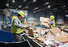 PMG FILE PHOTO - Workers at Republic Services in Wilsonville sort through recyclable material. General manager Jason Jordan said the company has to increase cart rates in Tualatin because of inflation and the rising cost of waste disposal.