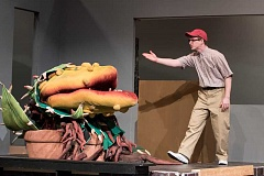 TIMES PHOTO: JONATHAN HOUSE - Matthew Glancy plays Seymour Krelborn in Tigard Highs Little Shop of Horrors, which opens next week.