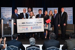 AMERICA'S BEST COMMUNITIES COURTESY PHOTO - The Tualatin delegation accepts its $100,000 prize grant as a finalist in the America's Best Communities contest Wednesday.