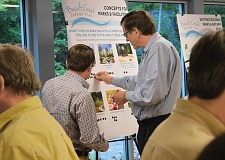 PMG PHOTO: JAKE BARTMAN - Consultants and staff from the cities of Wilsonville and Tualatin collected feedback from citizens on development of the Basalt Creek area at an open house April 28.