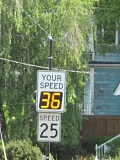 DENYSE MCGRIFF - People often drive above the speed limit along Washington Street in Oregon City and on other residential streets throughout the Portland area.