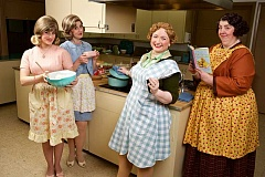 SUBMITTED PHOTOS: BROADWAY ROSE THEATER - Broadway Rose Theater is presenting Church Basement Women, a comedy about food and its importance to church life. From left are Zoe Randol, Debbie Hunter, Kymberli Colbourne and Lori Paschall.