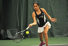 VERN UYETAKE - Lake Oswego's Melisha Dogra was the No. 1 seed in the girls singles bracket and was barely challenged en route to the district championship.