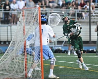 MATTHEW SHERMAN - West Linn's Jacob Taylor fires a shot toward the Lakeridge goal during Tuesday's rematch with the Pacers on the road.