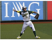 COURTESY: ERIC EVANS  - A.J. Balta had a home run on Sunday that helped the Oregon Ducks win the rubber game of their series at Oregon State.