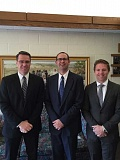 SUBMITTED - New leadership for the Second Ward of the Church of Jesus Christ of Latter-day Saints is (from left) Shawn Hawkins (first counselor), Clay Doman (bishop) and Justin Stoddard (second counselor).
