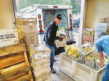 SUBMITTED - The annual Mail Carriers Food Drive netted more than 9,700 pounds of food Saturday in Newberg and Dundee, officials reported Monday. The effort, which is nearing the 25-year mark in the area, gathers food for Newberg FISH and Dundee Promise Pantry.