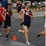 DAN BROOD - Horizon Christian junior Alex Olson strides out in the 1,500 during action Saturday at the West Valley League district meet. Olson qualified for the Class 3A state meet in the 3,000.