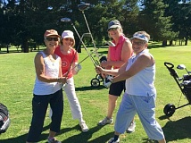 SUBMITTED PHOTO  - Pictured from left are Jan Bliss, Gail Duncan, Wendy Bond and Kim Heron. Join them for a round of golf Thursdays at the Lake Oswego Public Golf Course.