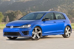 VOLKSWAGEN AG - Larger wheels and some exterior trim pieces are about the only obvious signs that R version of the 2016 Volkwagen Golf is a totally different animal than the basic economy model.