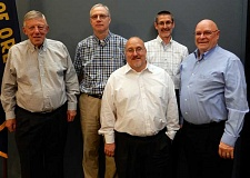 SUBMITTED PHOTO: JON GAIL - The City's Budget Committee consists of five citizen members (pictured) and Wilsonville's five city councilors. Back row, from left: committee members Tony Holt, Paul Bunn and Andrew Karr. Front row, from left: committee member Arthur Park and Committee Chair Alan Steiger.