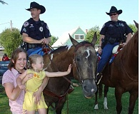 MPD - Molalla mounted police officers at a previous National Night Out