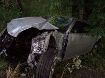 PHOTO COURTESY OF MULTNOMAH COUNTY SHERIFF'S OFFICE - One car crashed and four were injured in an alleged speed racing incident on I-84 near Multnomah Falls.