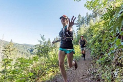 COURTESY PHOTO: PAUL NELSON FILM & PHOTOGRAPHY - Runners from all over the country and Canada came to run in the woods of western Washington County, along forest paths and logging roads.