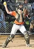 SPOTLIGHT PHOTO: JAKE MCNEAL - Indians senior Sage Harrison (pictured), junior second base Nicole Lukinbeal, sophomore utility Gabie Krueger, sophomore shortstop Hannah Galey and senior pitcher Kendal Bailey made Class 4A softball all-state teams.
