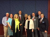SUBMITTED PHOTO - Beaverton's LeeAnn Larsen and other members of the Oregon School Boards Association's board recently met with Sen. Jeff Merkley (D-Oregon) and other leaders in Congress to lobby for educational priorities.